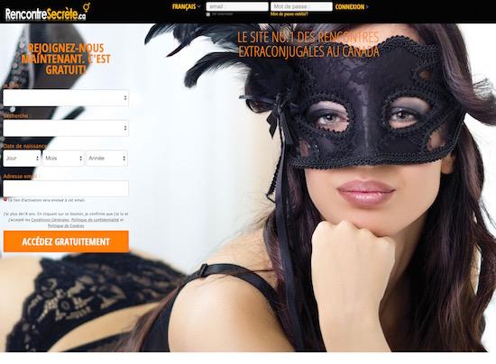 RencontreSecrète.ca –  Un site dédié aux personnes mariées, c'est extra-conjugal !