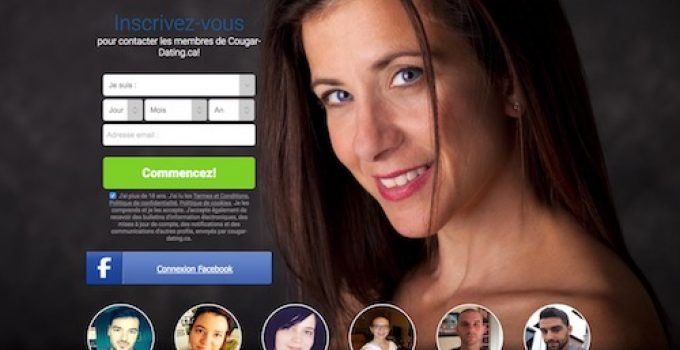 cougar-dating page